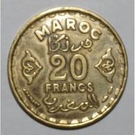 MAROC - 20 FRANCS AH 1371 - TTB - - Maroc