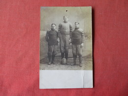 Football Players  Tack Hole Top Center    RPPC     Ref 3162 - Cartes Postales