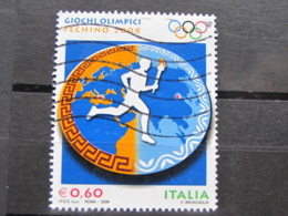 *ITALIA* USATI 2008 - OLIMPIADI PECHINO 2008 - SASSONE 3044 - LUSSO/FIOR DI STAMPA - 6. 1946-.. Repubblica