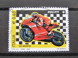 *ITALIA* USATI 2008 - MOTO DUCATI - SASSONE 3041 - LUSSO/FIOR DI STAMPA - 6. 1946-.. Repubblica