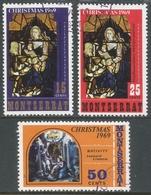 Montserrat. 1969 Christmas. Used Complete Set. SG 235-237 - Montserrat