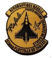 AERONAVALE Patch Flottille 17F Rafale 17ème Flottille De Chasse Embarquée - Ecussons Tissu