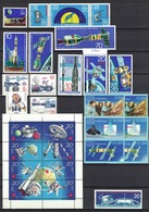DDR 1966 - 1988, 8 Sets Of Space Raumfahrt Sojus Rakete Satellite Satellit Weltraum Astronaut **, MNH - Spazio