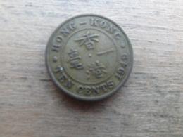 Hong-kong  10 Cents  1949  Km 25 - Hong Kong