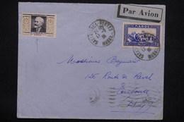 FRANCE - Vignette Calmette Surchargé Maroc Sur Enveloppe Du Maroc En 1935 Par Avion Pour Toulouse - L 22857 - Erinnophilie
