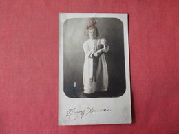 Young Girl With Doll In Stocking    Color Tinted Photo     Merry Xmas  1910      RPPC     Ref 3162 - Fashion