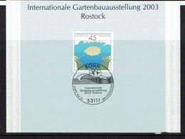 ALLEMAGNE CARTE AVEC OBLITERATION BONN INTERNATIONALE GARTENBAUAUSSTELLUNG 2003 ROSTOCK - Vegetales