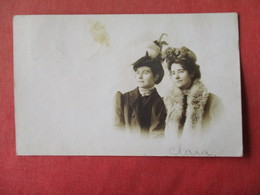 2 Females With Hats     RPPC     Ref 3162 - Fashion