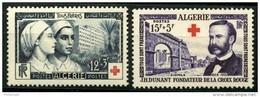 Algerie (1954) N 316 à 317 * (charniere) - Algérie (1924-1962)