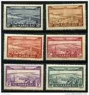 Maroc (1933) PA N 34 à 39 * (charniere) - Neufs