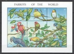 H1841 ST.VINCENT FAUNA BIRDS PARROTS OF THE WORLD 1KB MNH - Parrots
