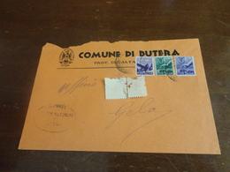 LETTERA CON 6 LIRE+1 LIRA+50 CENTESIMI DEMOCRATICA- - 1946-.. République