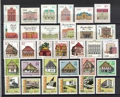 DDR 1968 - 1985, 6 Sets Of Bauten Bauwerke (Bauhaus) Architecture **, MNH - Architektur