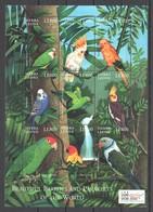 H1842 2000 SIERRA LEONE FAUNA BIRDS BEAUTIFUL PARROTS & PARAKEETS 1SH MNH - Parrots
