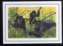 RWANDA RWANDAISE REPUBLIQUE 1985 MOUNTAIN GORILLA DI MONTAGNA BLOCK SHEET BLOCCO FOGLIETTO BLOC FEUILLET MNH - Rwanda