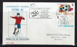 ESPAGNE FDC CHAMPIONNAT DU MONDE DE FOOTBALL 1982 - Copa Mundial