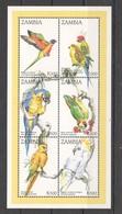 H1845 ZAMBIA FAUNA BIRDS PARROTS 1KB MNH - Parrots