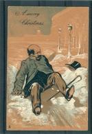 Relief - Gaufrée - Embossed - Prage - Caricature  - TBE - Uomini