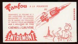 BUVARD:  ENTREMONT - FANFOU A LA POURSUITEU X01 - FORMAT  Env. 11X18 Cm - Produits Laitiers