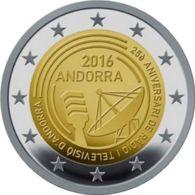 Andorra. 2 Euro. Broadcasting In Andorra. UNC. 2016 - Andorre