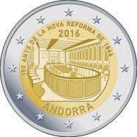 Andorra. 2 Euro. New Reform. UNC. 2016 - Andorre