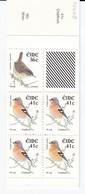 BIRDS Ireland 2002 Wren And Chaffinch Booklet MNH(**) #B77 - Oiseaux