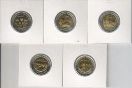 Argentina. Set, Set Of Coins. 5 Coins On 1 Peso. Bimetal. UNC. 2010 - Argentina