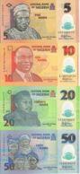 Nigeria. Set, Set Of Banknotes. 5, 10, 20, 50 Naira. UNC. 2016-2017. Polymer - Nigeria