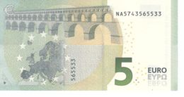 Banknote. 5 Euro. Romance Style. Austria NA. N014 Cliche Code. UNC. 2013 - EURO