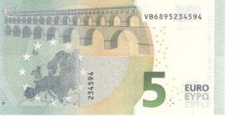 Banknote. 5 Euro. Romance Style. Spain VB. V011 Cliche Code. UNC. 2013 - EURO
