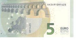 Banknote. 5 Euro. Romance Style. Spain VA. V002 Cliche Code. UNC. 2013 - EURO