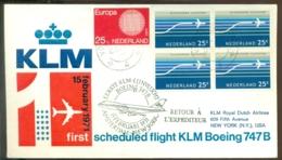 Nederland 1971 Eerste KLM Lijnvlucht Boeing 747 Amsterdam - New York VH A 836a - Luftpost