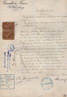 VP14.561- RUSSIE - Consulat De France à SAINT - PETERSBOURG 1881 - Certificat De Vie - Mr JAUNEZ SPONVILLE Né à FLORENCE - Vieux Papiers