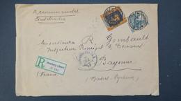 Sarre Lettre Recommandé De  Homburg 1922 Pour Bayonne Cachet Douanes Au Verso , Registered Cover , Einschreiben - 1920-35 Société Des Nations