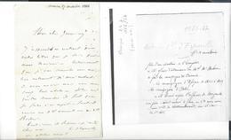 MEXIQUE - MEXICO Autographe  D' ESPEUILLES 5 è Hussards  7 Lettres 26 P. 1866-67  Queretaro... (+ 4 P. Palais St-Cloud ) - Autógrafos