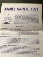Année Sainte 1983(plaquette De 15 Cm Sur 21 Cm) - Religion & Esotérisme