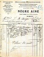 30.GARD.NIMES.DROGUERIE.HERBORISTERIE.NEGRE AINE 3 RUE SAINT REMY. - Chemist's (drugstore) & Perfumery