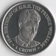 Isle Of Man. Coin. 1 Crown. 2000. UNC. 18 Years To Prince William. The Great Coin - Regional Coins