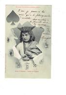 Cpa - EDITION BERGERET - Horoscope Jeune Homme Querelleur Méchant - Jeu Cartes à Jouer VALET DE PIQUE - Bergeret