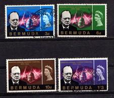 BERMUDA    1966    Churchill  Commemoration    Set  Of  4    USED - Bermuda