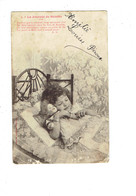 Cpa - EDITION BERGERET - La Journée De SUZETTE - Fillette Au Lit Poupée - - Bergeret