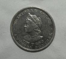 Silber/Silver El Salvador Columbus, 1893 C.A.M., 1 Peso Vz-funz/xf-AU - El Salvador