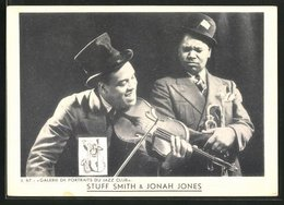 AK Jazz-Musiker Stuff Smith Und Jonah Jones - Musik Und Musikanten
