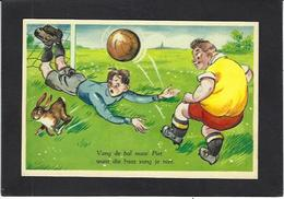 CPSM Football Humor Humour Lapin Voir Scan Du Dos - Soccer