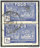 870 Togo 1928 1f75 Bleu Palmiste Palm Tree (TGO-113) - Arbres