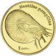 Moorea. French Polynesia. Coin. 1 Dollar. 2018. Unc. Nautilus Pompilius - Polynésie Française