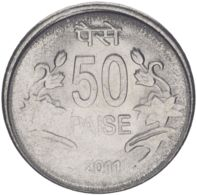 India. Coin. 50 Paise. 2011-2013. VF / XF - Inde