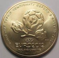 Ukraine. 1 Hryvnia. European Football Championship. Euro 2012. Out Of Turnover - Ukraine
