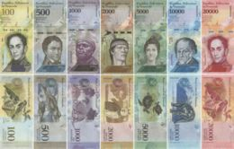 Venezuela. A Set Of Banknotes. 100, 500, 1000, 2000, 5000, 10000, 20,000 Bolivars. 2016-2017. UNC - Venezuela