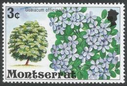 Montserrat. 1976 Flowering Trees. 3c MH. SG 373 - Montserrat